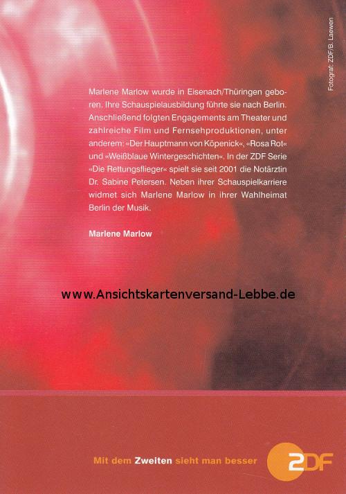 Marlow rettungsflieger marlene Marlene Marlow